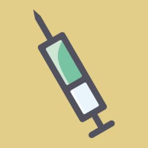 Spritze mit Impfstoff