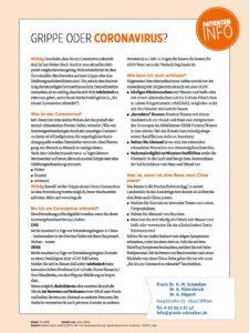 Patienten-Info zum Corona-Virus