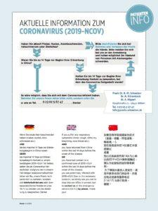 Praxisaushang zum Corona-Virus